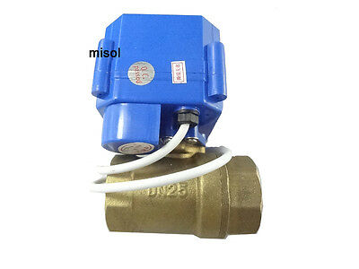 """10pcs motorized ball valve 12V, DN25 (BSP 1""""), manual switch, 2 way, electrical"""
