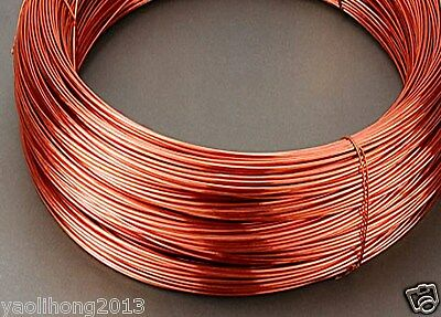 1m 99.5% Pure Copper Wire Round Solid Uncoated Diameter 0.5mm 1mm 2.5mm to 3mm