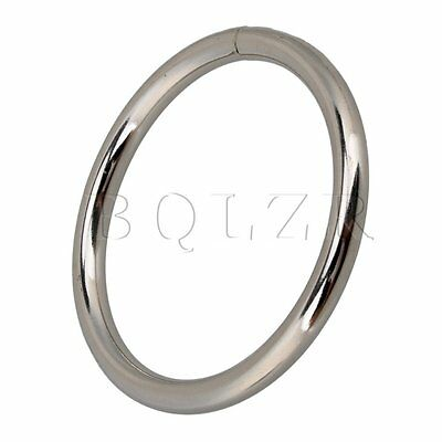 20 x Metal O Ring Non Welded Webbing Belts Buckle Strap Adjuster Silver 38mm Dia