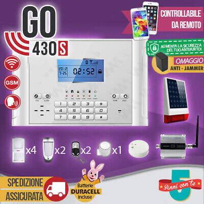 Kit Antifurto Casa Allarme Combinatore Gsm Wireless Go430S