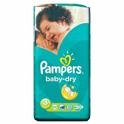 PampersBaby Dry Taille 3 Midi 4-9Kg (52)