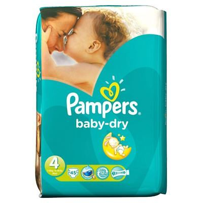 PampersBaby Dry Taille 4 Maxi 7-18Kg (45)