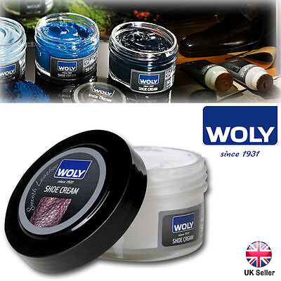 Woly Shoe Cream Polish Restoration Condition Leather Bag Boots Shoes Care 50ml