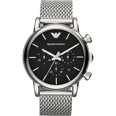 New Emporio Armani Ar1811 Mens Mesh Luigi Watch - 2 Years Warranty - Certificate