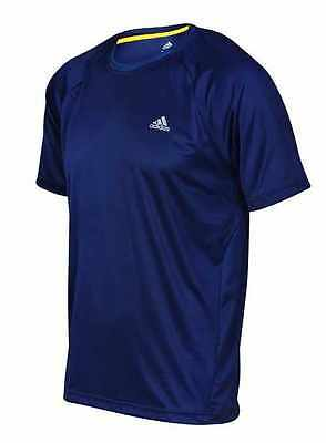 Mens Adidas T Shirt Climalite Breathable Running Top Sports Fitness Light Tee