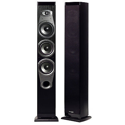 "Precision Acoustics HD35T 3-Way Triple 5"" Tower Loud Speakers (PAIR OF 2) NEW"