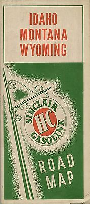 1940 SINCLAIR OIL COMPANY PARCO Road Map IDAHO MONTANA WYOMING US Route 30 Hotel