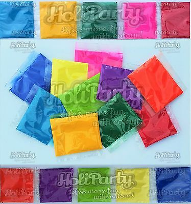 10 Different Colours in 100g Bags, Deluxe Holi Throwing Powder from HoliParty.