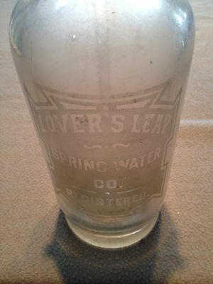 Vintage Lovers Leap Spring Water Co. Seltzer Bottle GVC