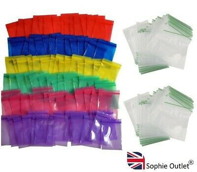 100 Small Plastic Bags Self Seal Resealable Clear Baggy Jewellery Bag 5cm x 5cm