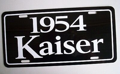 1954  Kaiser metal license plate tag 54 Willys Manhattan