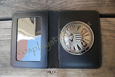 Avengers Agents of S.H.I.E.L.D SHIELD Eagle Logo Badge Pin+Folder COSplay Prop