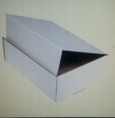 WHITE Corrugated Shipping Packing Moving Tuck Mailer Boxes Box-Choose 56 Sizes