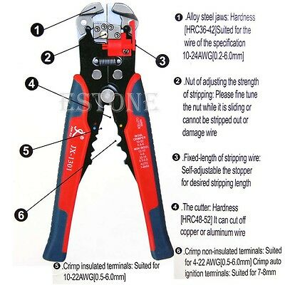 Automatic Wire Stripper Crimping Pliers Multifunctional Terminal Tool Hot