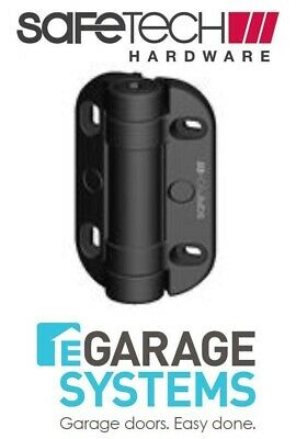 Safetech Heavy Duty Adjustable Tension Hinge With Legs Black Pair SHH-135LS