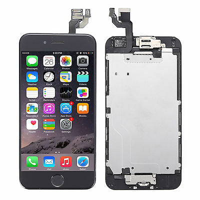 "Für Apple iPhone 6 4.7"" Vormontiert LCD Display Touchscreen Front Glas Schwarz A"