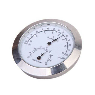 Silver Round Humidity Thermometer Hygrometer Case For Guitar Mini Useful