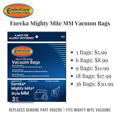 Eureka MM Vacuum Bags *Fits Mighty Mite Vacuums (Replaces Genuine Part # 60295)