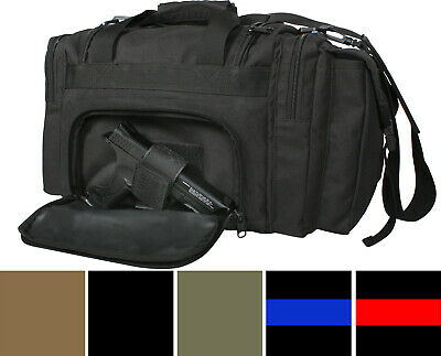 Tactical Concealed Carry Bag, Pistol Gun Range Large Duffle Covert CCW MOLLE