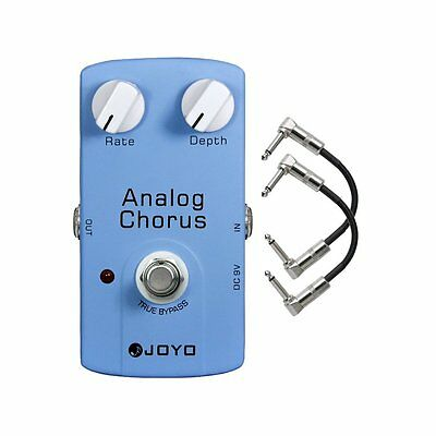 Joyo JF-37 Analog Chorus True Bypass Guitar Effects Pedal w/ 2 Patch Cables