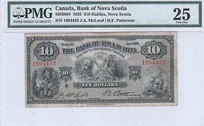 Canada, 10 Dollars, 1935, C550-36-04, Bank of Nova Scotia, PMG Very Fine 25
