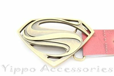 "Superman Bronze Officially Licensed ""S"" Symbol Metal Fashion Belt Buckle"