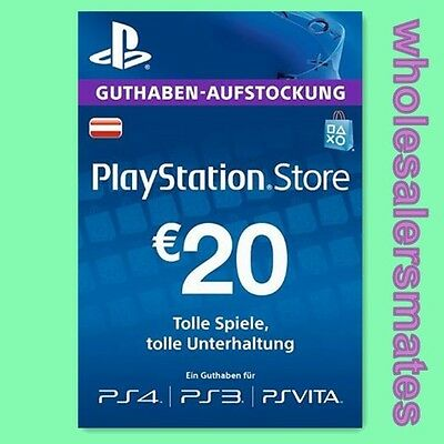 Prepaid Karte Ps4.At 20 Playstation Network Card Key Psn 20 Eur Prepaid Karte Ps3 Ps4 Osterreich