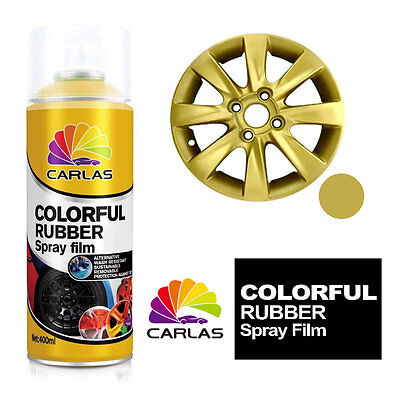 Carlas Removable Rubber Spray Paint Film Coating - GOLD - Alloy Wheels Panels