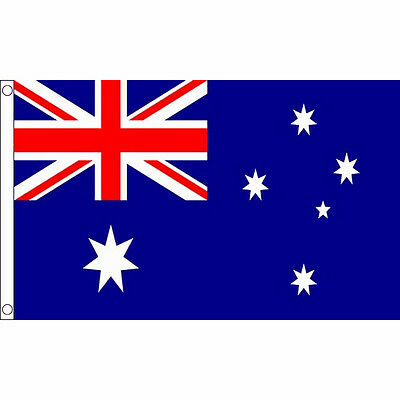 Austrailia Flag Large 5 x 3 FT - 100% Polyester With Eyelets National Country
