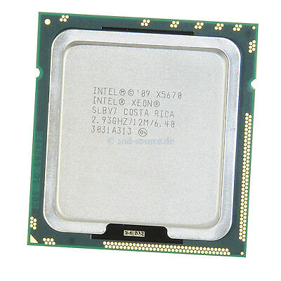 Intel Xeon X5670 2.93GHz 12MB 6-Core CPU 95W 594882-001, SLBV7