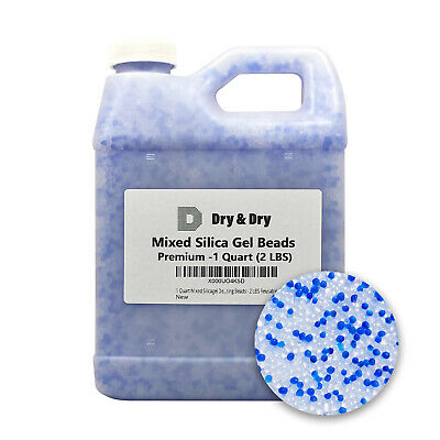 1 Quart(2 LBS) Mixed Silica Gel Beads - Reusable Color Changing Air Drying