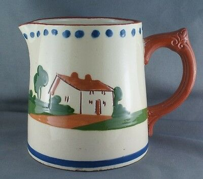 Vintage Devon Dartmouth Potteries Motto Ware Redware Milk Pitcher