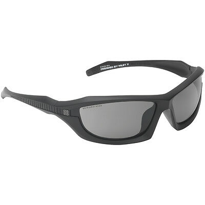 5.11 Burner Full Frame Tactical Sunglasses Smoke Lens Matte Black Sport Frame