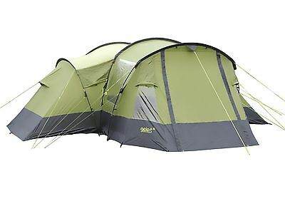 Gelert Trinity 6 Man Person Camping Family Tent in Green
