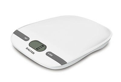 Salter 5kg Contour Electronic Digital Kitchen Scales - White 1071 WHDR - NEW