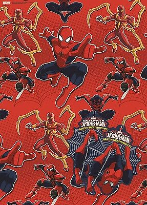 Ultimate Spider-Man | Web Warriors | 2 Sheets of Giftwrap | Paper | 2 Gift Tags