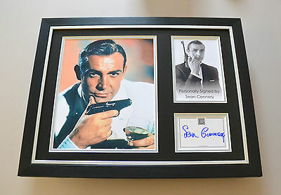 Sean Connery Signed Framed 16x12 Photo James Bond Memorabilia Autograph Display