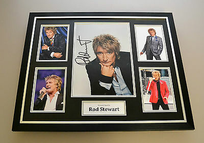 Rod Stewart Signed Photo Large Framed Music Autograph Memorabilia Display + COA