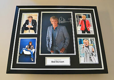 Rod Stewart Signed Photo Large Framed Autograph Display Music Memorabilia + COA