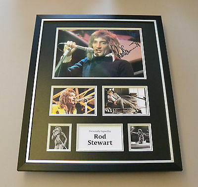 Rod Stewart Signed Photo Large Framed Autograph Music Memorabilia Display + COA