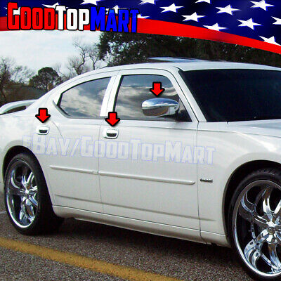 For Dodge MAGNUM 2006 2007 2008 Chrome Covers Set Mirrors+4 Door Handles w//o PK