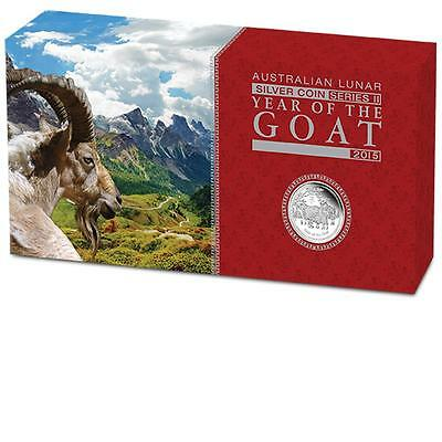 Perth Mint 2015 Year of the Goat Australian Lunar Silver Proof 3-Coin Set