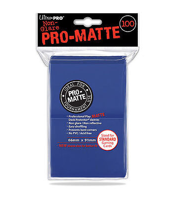 100ct Blue Matte Deck Protector Card Sleeves Pokemon MTG Sports + Ultra Pro