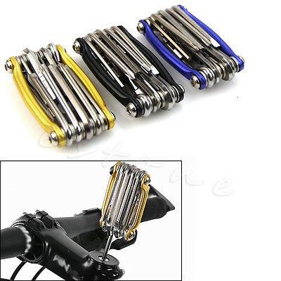 1Pc 11 In 1 Multi-function Bike Bicycle Wrench Chain Cutter Repair Tools Kit New
