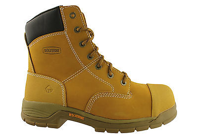 Wolverine Harrison 8 Inch Mens Steel Toe/lace Up Safety Boots/waterproof