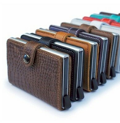 SECRID Mini Wallet Genuine Leather RFID Secured Card Protector Made in Holland