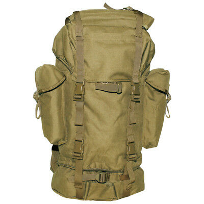 German Army Rucksack Backpack Hiking Trekking Camping Water-Resistant 65L Coyote