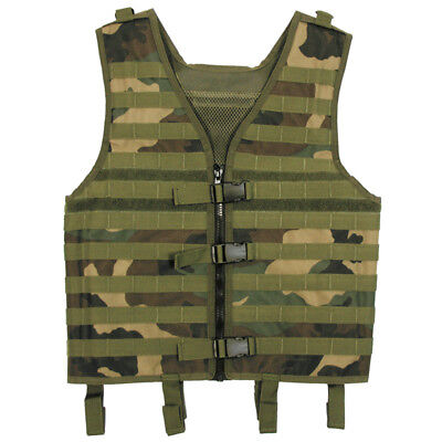 Army Adjustable Vest Molle Light Modular Tactical Airsoft Combat Woodland Camo