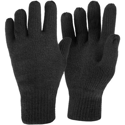 Highlander Drayton Thinsulate Lined Gloves Tactical Mens Warm Winter Glove Black