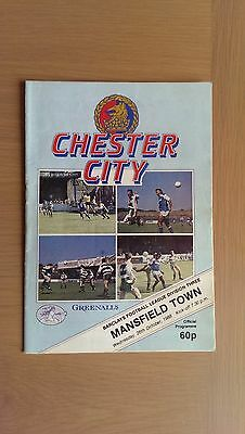 Chester City V Mansfield Town 1988-89